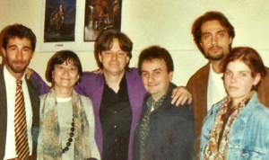 Pietro e Tommy Emmanuel coi discografici Sony 1994